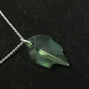 Jewelry - Swarovski crystal leaf necklace